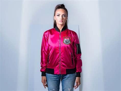 Fuchsia Jacket bomber jacket satin fuchsia pink custom jacket