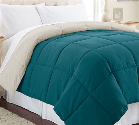 extra large queen comforter down alternative reversible comforter teal oatmeal queen