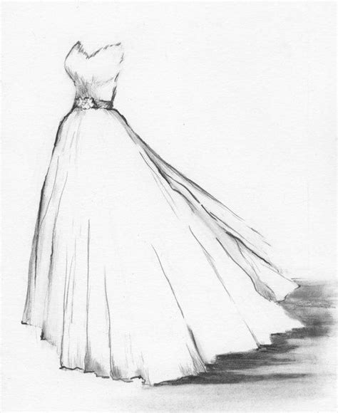 wedding dresses drawings wedding dress portrait custom drawing of your by