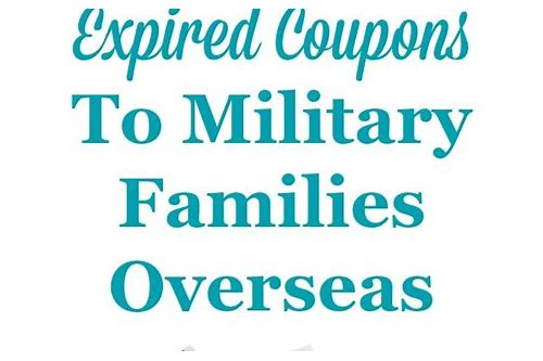 donate expired coupons to military families