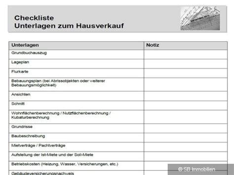 Fragen Beim Hauskauf Checkliste Checkliste Hausverkauf Sb Immobilien