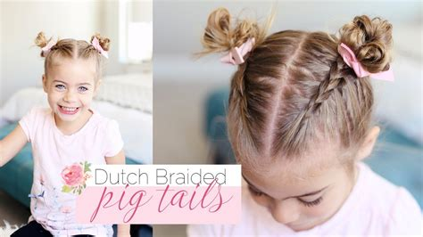 little girl hairstyles how to cute little girl hairstyle dutch braided pigtails