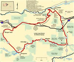 lariat loop scenic and historic byway map america s byways