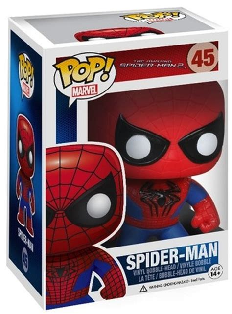 Funko Pop Marvel The Amazing Spider 2 Spider 45 1 the amazing spider 2 spider pop vinyl