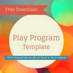 Play Program Template by 1000 Images About Theater Templates On