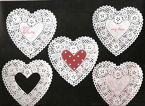 Lace Craft Paper - lace hearts cheap embellishment times guide to