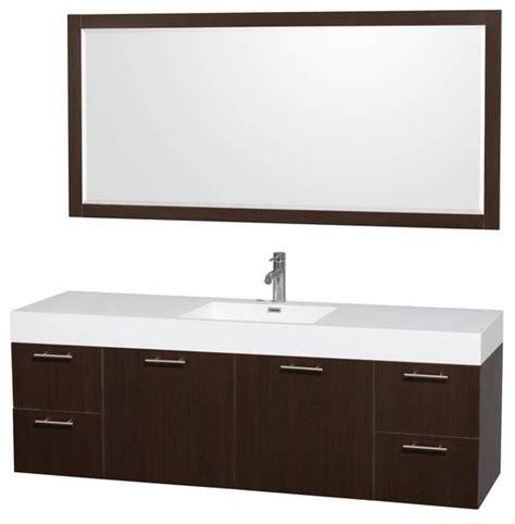 72 Inch Sink Vanity by Wyndham Amare 72 Inch Single Bathroom Vanity Modern