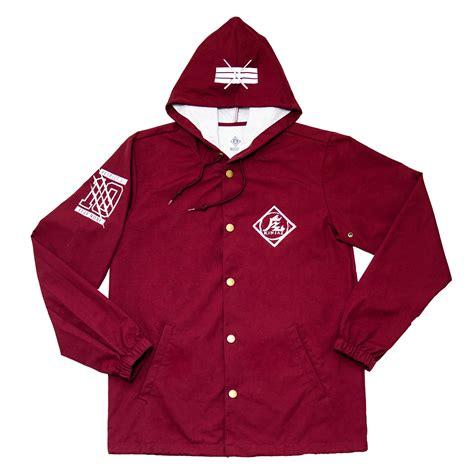 Kina Maroon quot kin quot koaches jacket maroon 183 kin aesthetik