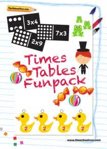 times tables funpack by theschoolrun teaching resources
