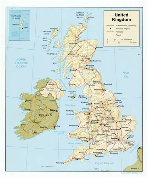 map of the united kingdom with major cities large detailed political map of united kingdom with relief