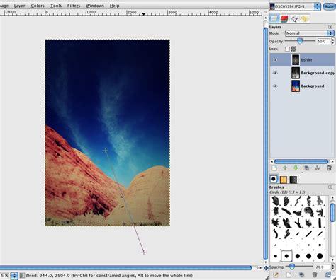 gimp creating a border how to make a photograph lomographic in gimp gimp