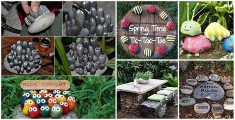 20 Diy Garden Decorating Ideas With Rocks And Stones Diy Garden Decor Ideas