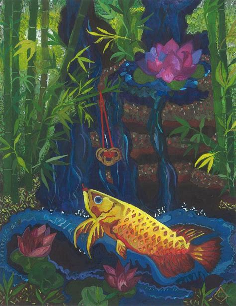 feng shui painting feng shui wealth corner blessing 2 painting by lily diamond