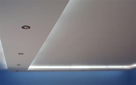 drop decken gleis beleuchtung rigips decke deko kreatives haus design