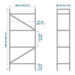 draget shelving unit light grey 60x140 cm ikea draget shelf unit light gray 23 5 8x55 1 8 quot ikea