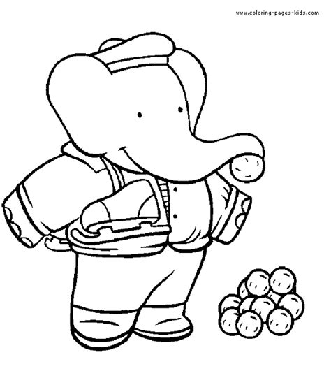 babar coloring pages free coloring pages
