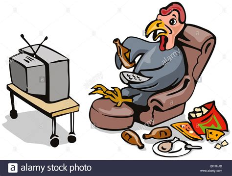 couch potato free tv cartoon illustration of a lazy couch potato turkey
