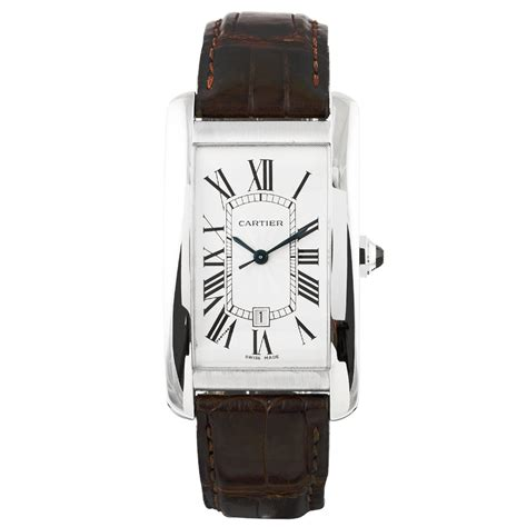 pre owned cartier tank americaine 18ct white gold