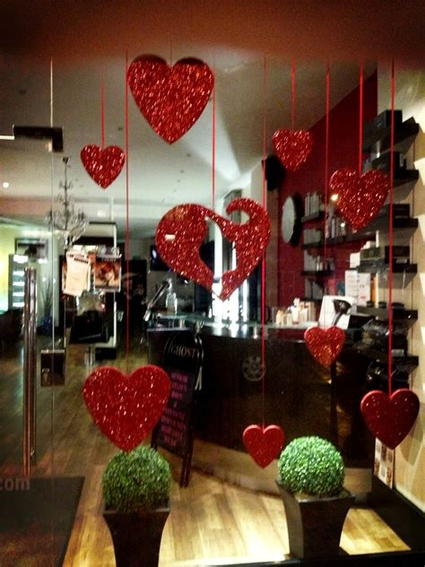 valentines day window salon polystyrene lettering and logo s