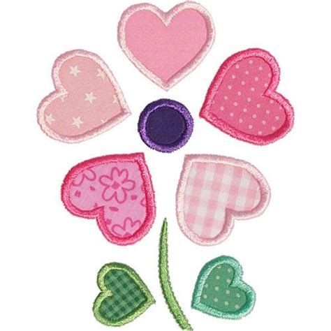 heart pattern for applique 599 best applique design images on pinterest