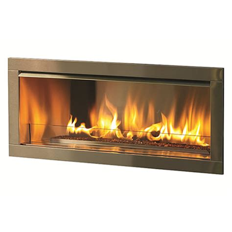 linear outdoor fireplace firegear outdoor linear fireplace with 2 faceplate