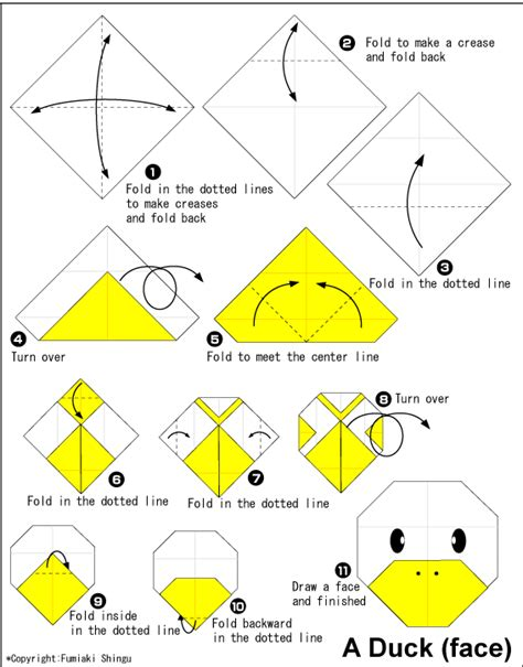How To Fold A Paper Duck - origami duck easy origami for