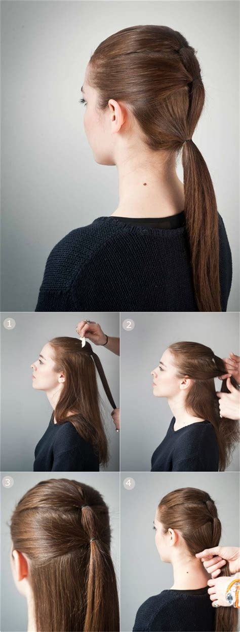 ponytail hairstyle for school step by step Archives   Best