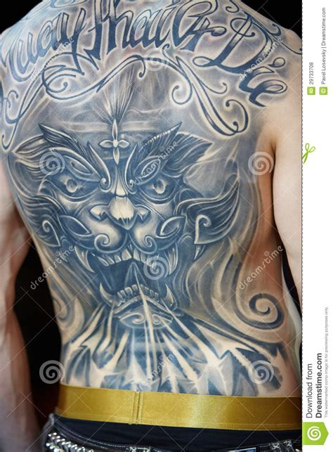 tattoo angel moscow tattooed male back at v moscow international tattoo