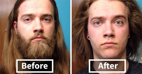before and after hair styles of faces 10 men before after shaving that you won t believe are