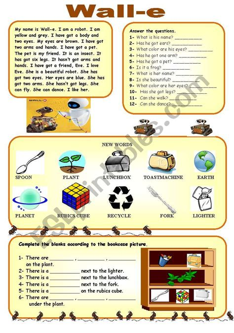 wall e movie questions by nicole duhr teachers pay teachers english worksheets wall e worksheet reading