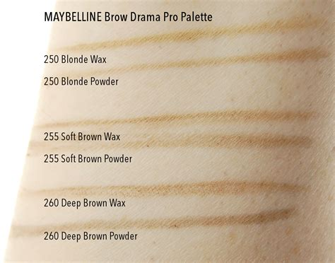 Mac Eyebrow Palette maybelline brow drama pro palette in 250 255 soft