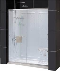 Shower Base And Doors Dreamline Dl 6117c Infinity Z Shower Door 32 Quot By 60 Quot Base And Backwall Kit