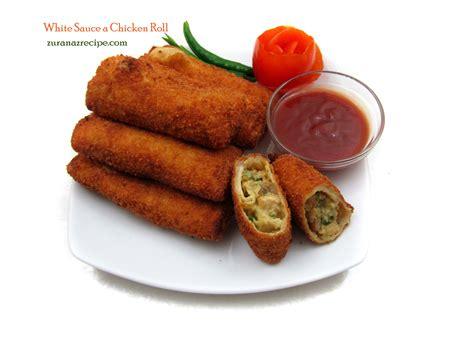 roll roll white sauce a chicken roll bangladeshi bengali