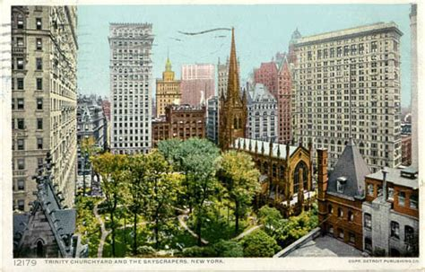 hell house trinity church penny postcards from new york new york