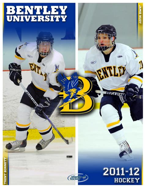 bentley college hockey issuu 2011 12 bentley university hockey media guide by