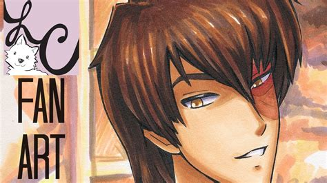 Blender Zuko prince zuko s arms from avatar copic marker fan