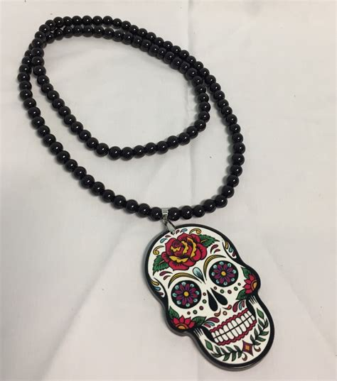 happytime novelty co jewellery necklace day of the dead