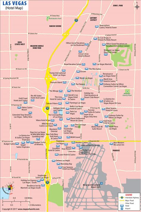 las vegas map las vegas map map of las vegas hotels