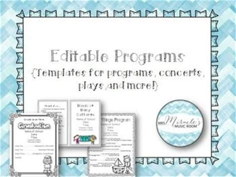 play program template editable programs templates for programs concerts plays