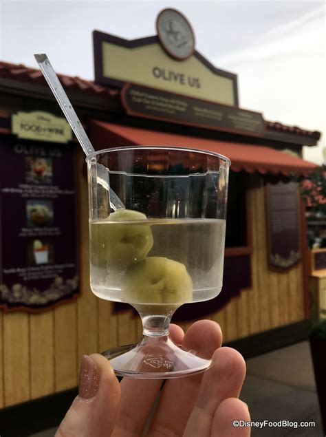 vodka martini with olives 2017 disney california adventure food and wine festival