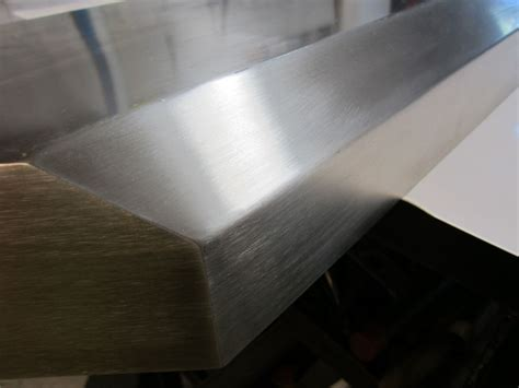 Stainless Steel Fireplace Mantel by Custom Brushed Stainless Steel Fireplace Mantels And