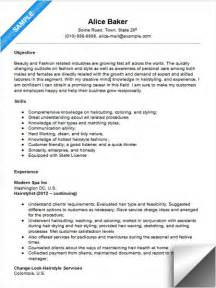 Description For Hairstylist by Hair Stylist Resume Sle