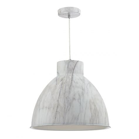Large Hanging Ceiling Lights Large Ceiling Pendant Light In Realistic Cararra Marble Effect Finish