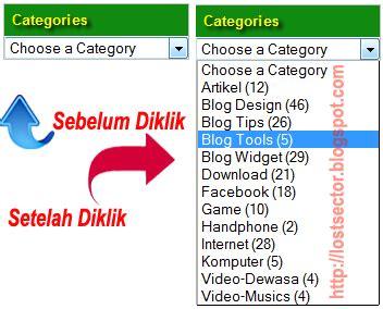 membuat menu dropdown untuk blogger cara membuat menu drop down untuk label category blogger