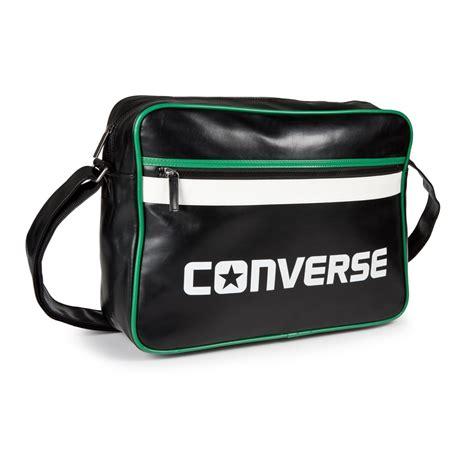 converse reporter sport messenger bag blue