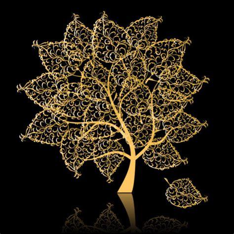 Gold Tree - golden tree vector material download free vector 3d model