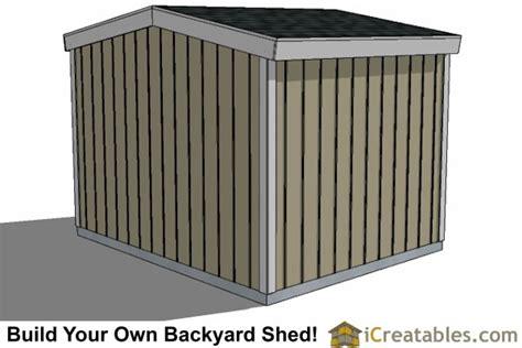 10x10 short shed plans under 8 foot shed