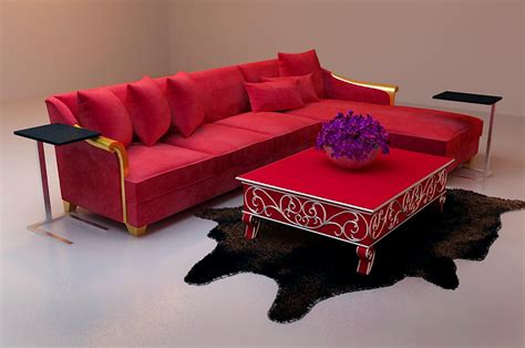 bright red sofa bao yang bright red sofa 3d model of l type including