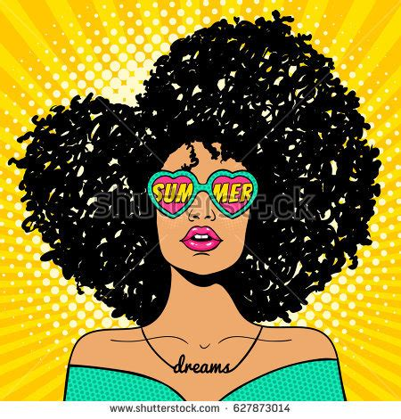 afro hairstyles vector cartoon black girl with curly hair adultcartoon co