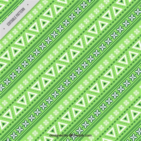 green pattern ai green pattern in ethnic style vector free download